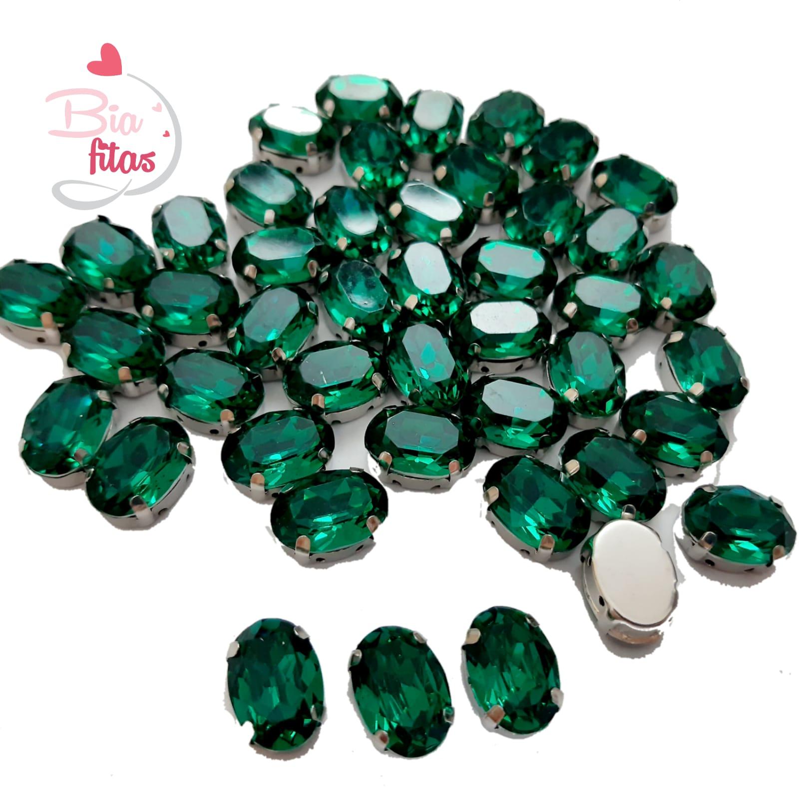 Chatom Pedra com Garras Oval Verde (5unidades)