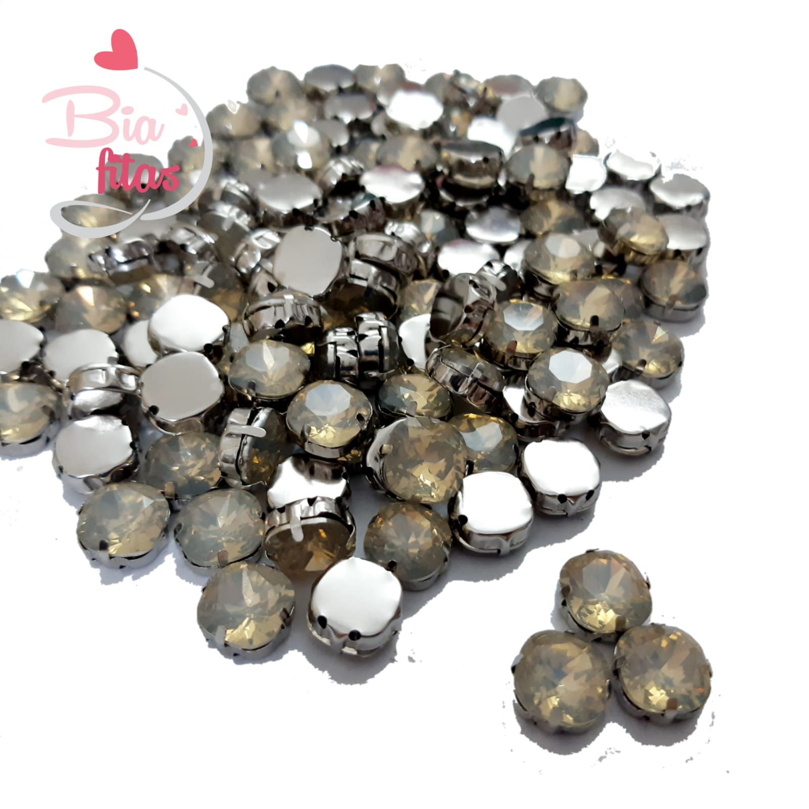 Chatom Pedra com Garras Redonda Transparente (5unidades)