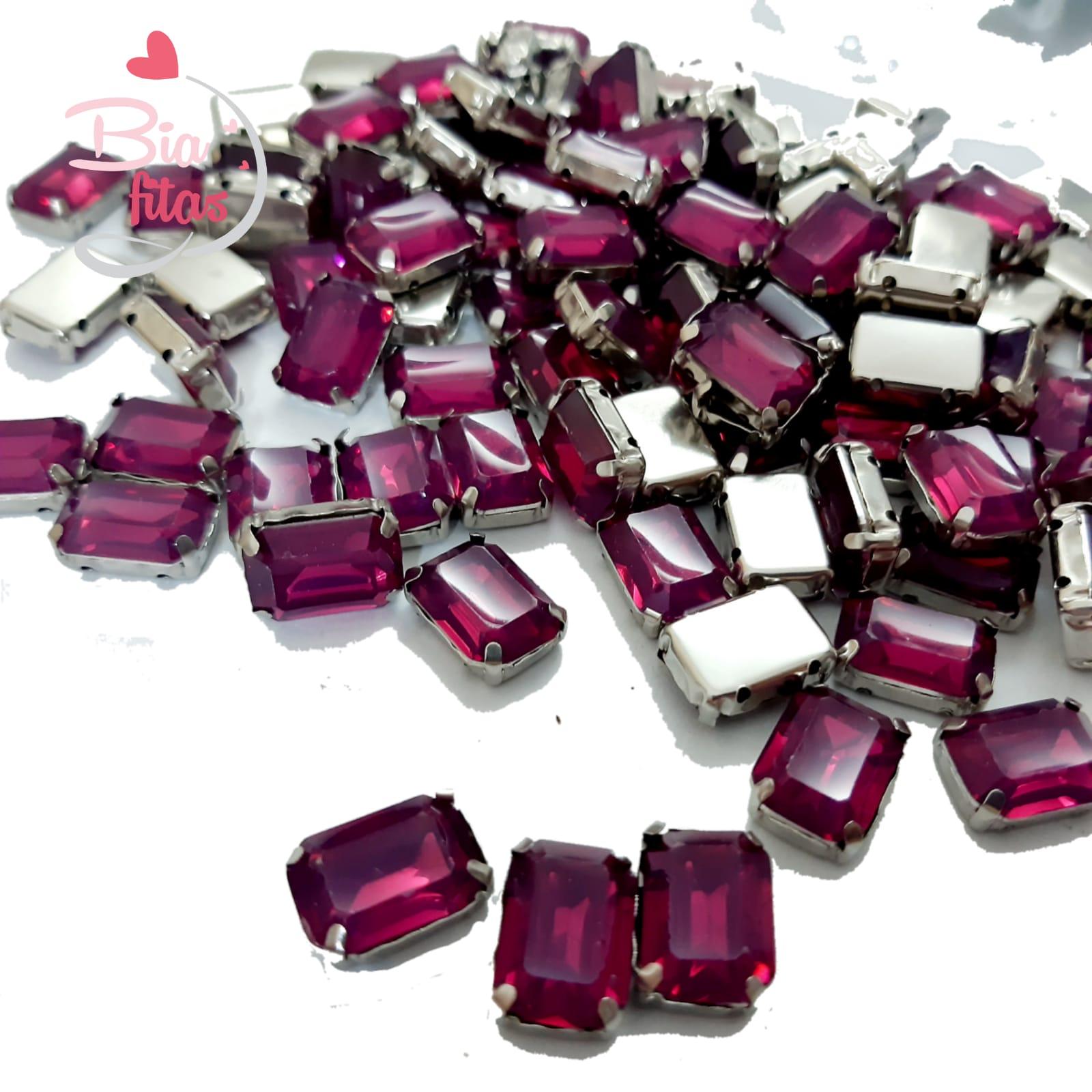 Chatom Pedra com Garras Retangular  Pink (5unidades)