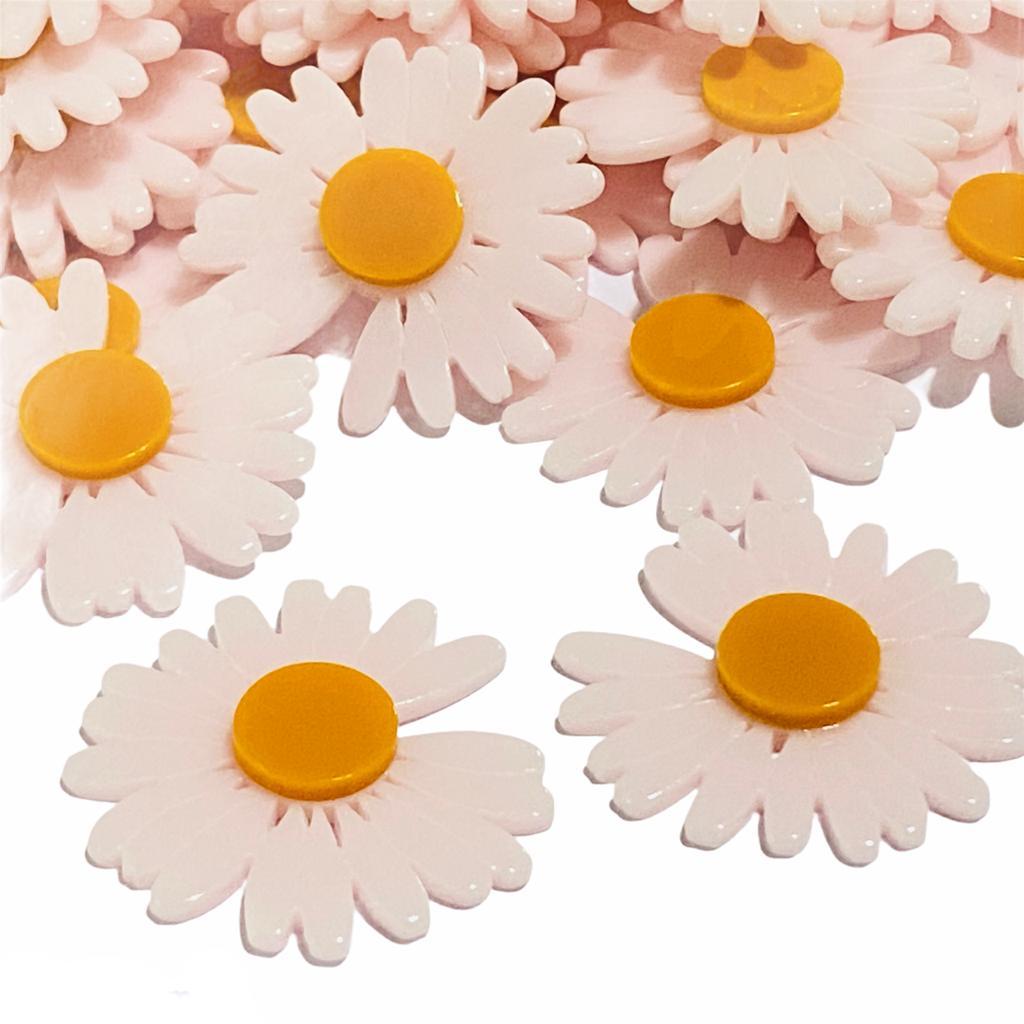 CÓPIA - Aplique de Acrilico Flor Bem me Quer Rosa