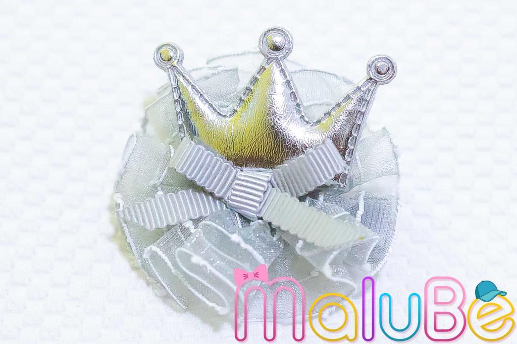 Coroa Prata em Organza