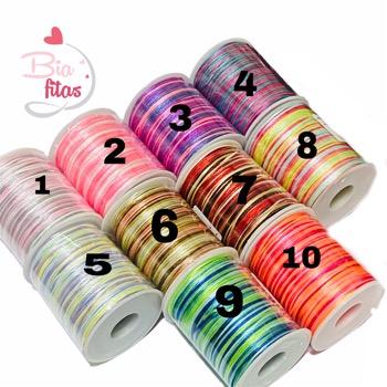 Fio de seda Colorido 1mm- 10m