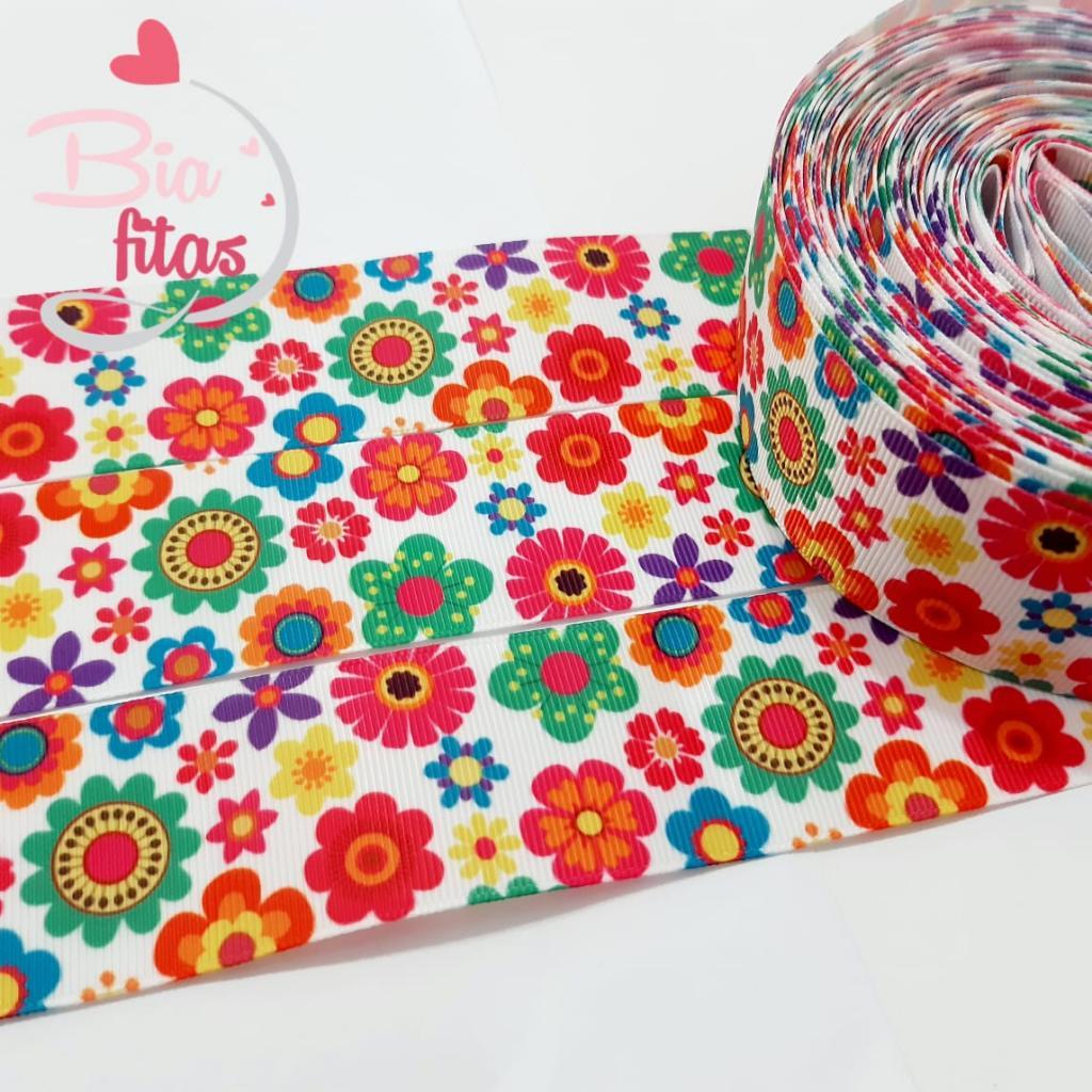 Fita de Gorgorão Floral 38 - 2metros