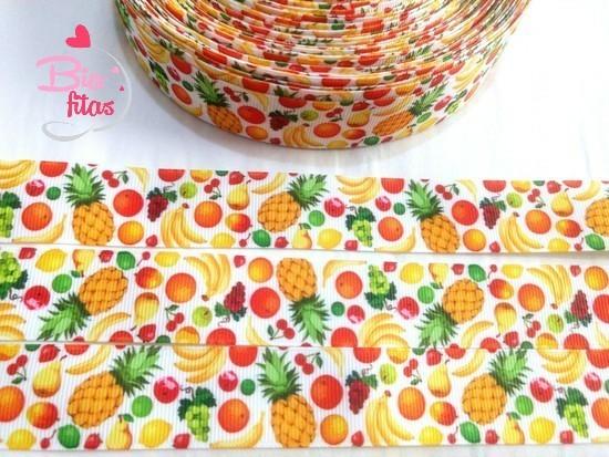Fita de Gorgorão Frutinhas 25