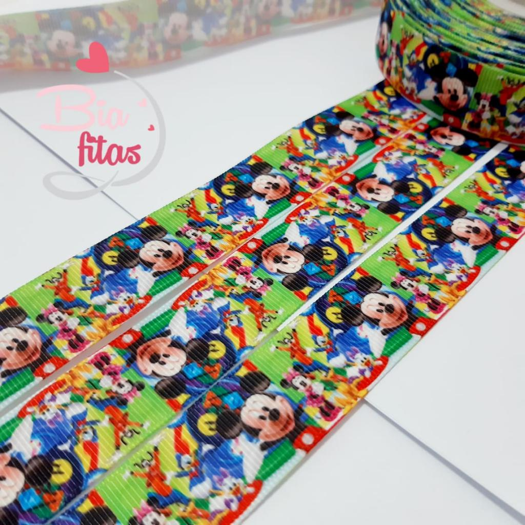 Fita de Gorgorão Mickey Colorida 22 - 2metros