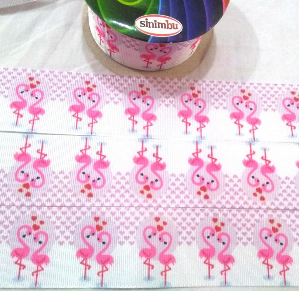 Fita de Gorgorão Sinimbú Flamingos 38