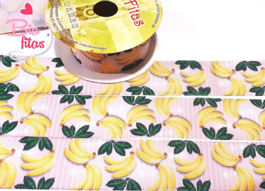 Fita de Gorgurão Art Fitas Bananas 564 - 5metros