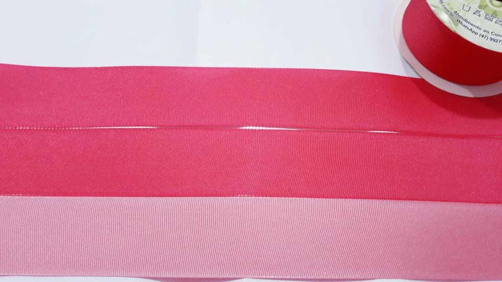 Fita de Gorgurão Art Fitas Dupla Face Pink / Rosa Claro 38 - 07