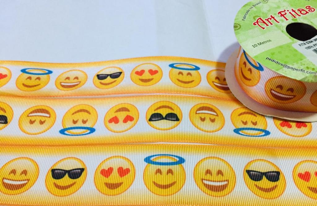 Fita de Gorgurão Art Fitas Emoji 38 - 304