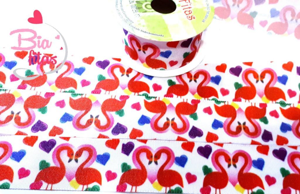 Fita de Gorgurão Art Fitas Flamingo 38