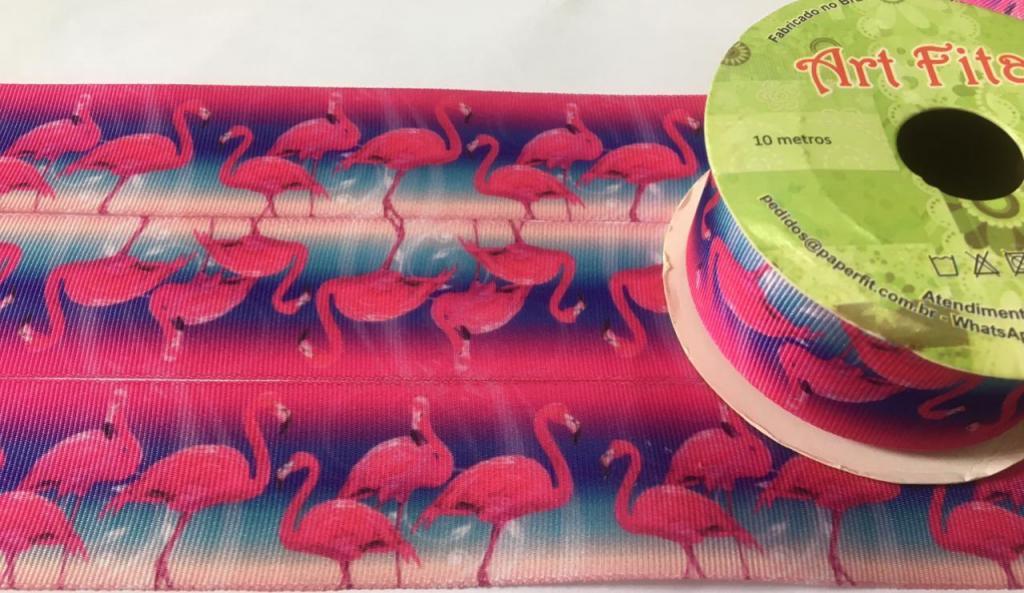 Fita de Gorgurão Art Fitas Flamingo 38 - 796