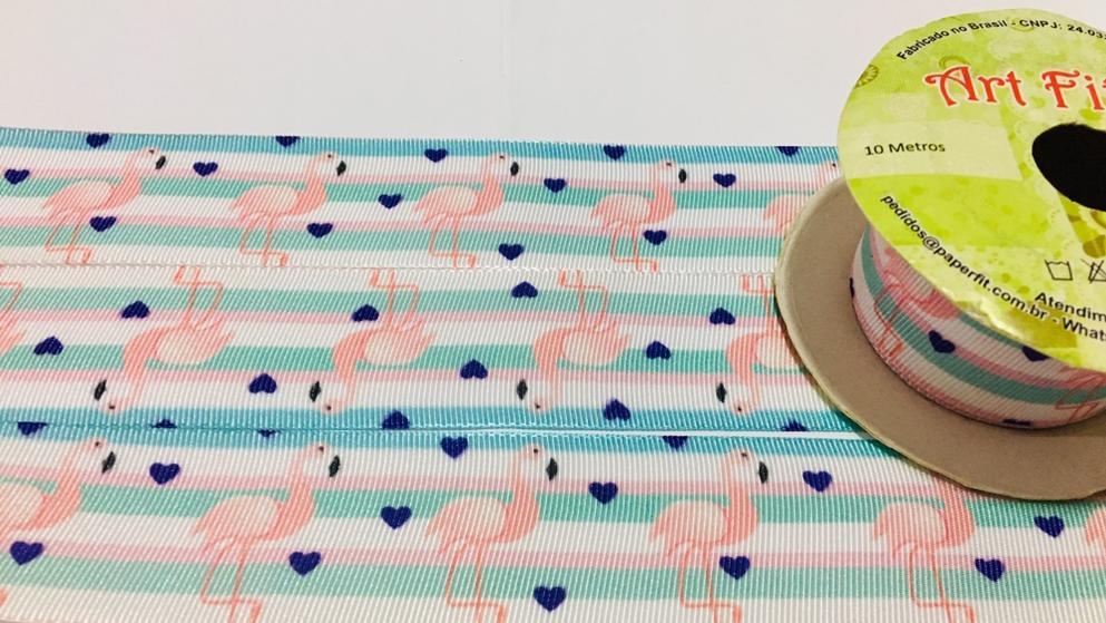 Fita de Gorgurão Art Fitas Flamingo 38 - 880 (10 metros)