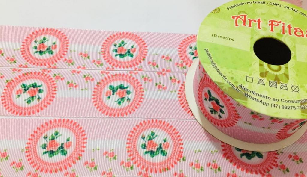 Fita de Gorgurão Art Fitas Floral 38 - 484