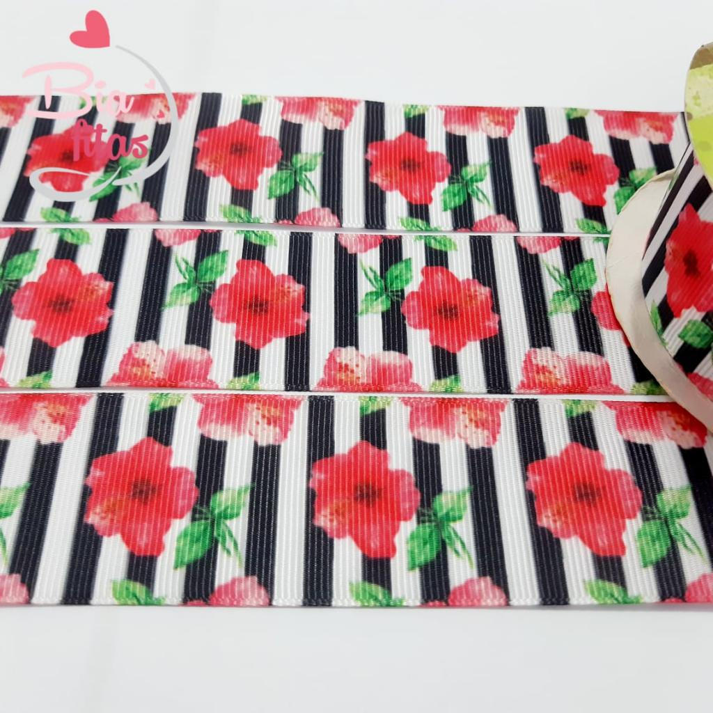Fita de Gorgurão Art Fitas Floral 38 - 762