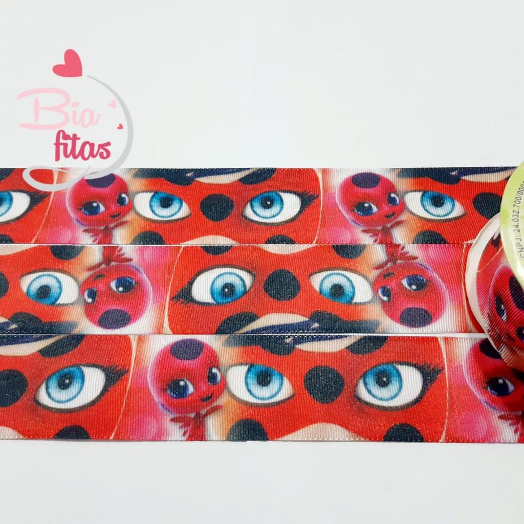 Fita de Gorgurão Art Fitas LadyBug 38 - 703 - 5metros
