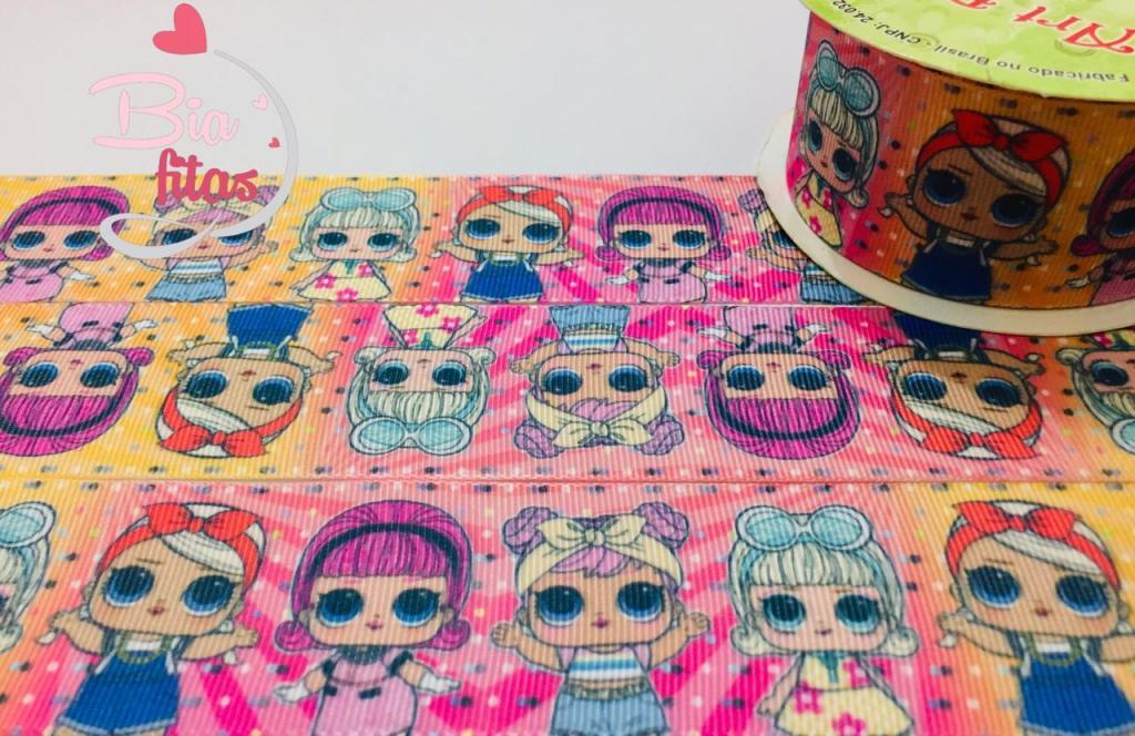Fita de Gorgurão Art Fitas LoL Confete 38 - 640 (10 metros)
