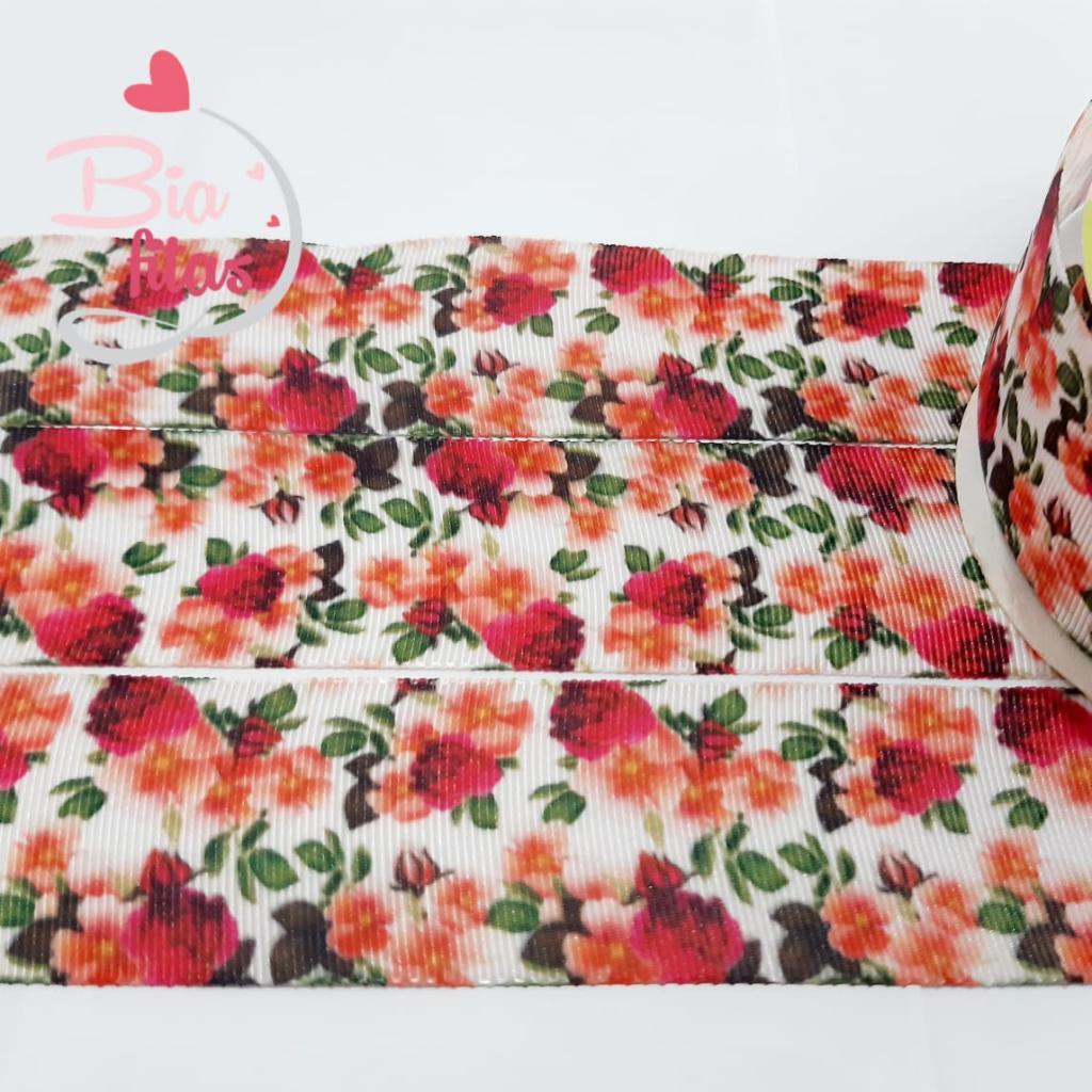 Fita de Gorgurão ArtFitas Floral 38