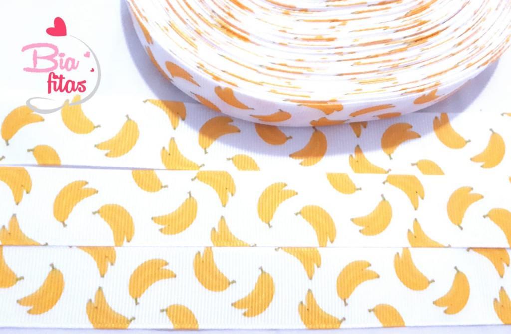 Fita de Gorgurão Bananas 25 - 2metros