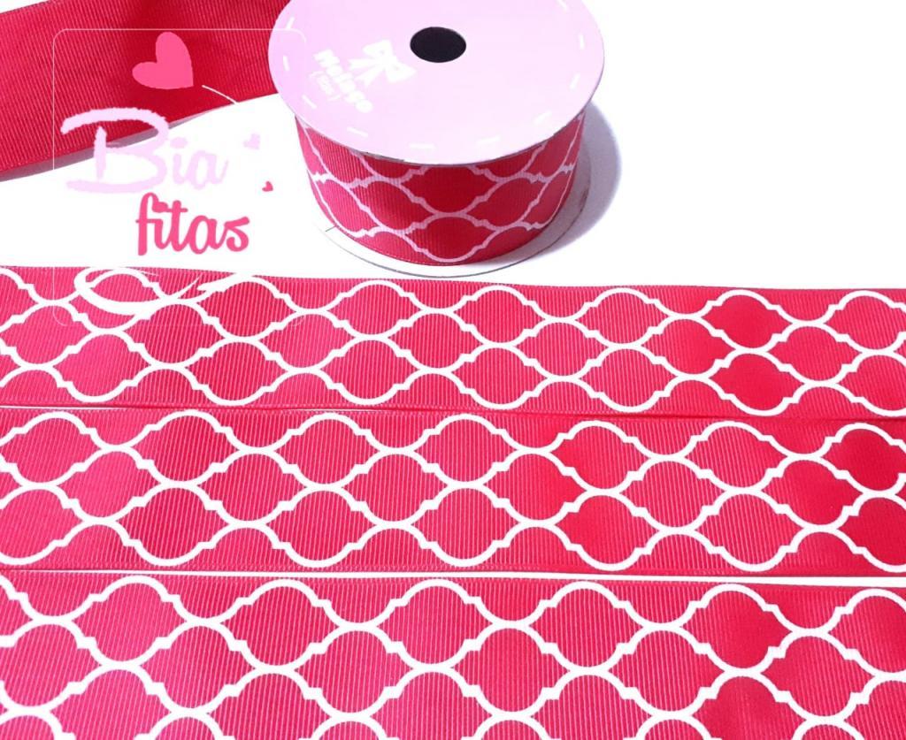 Fita de Gorgurão Melaço QUATREFOIL Pink 40