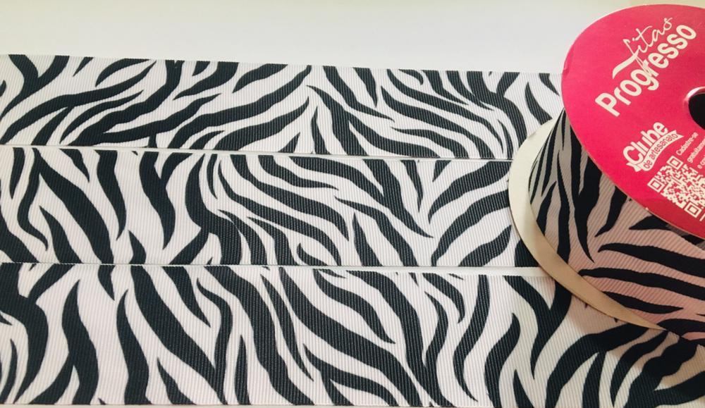 Fita de Gorgurão Progresso Animal Print 38 - 164 (10 metros)