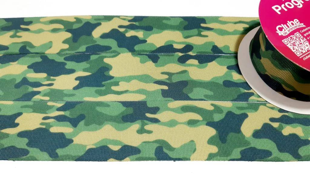 Fita de Gorgurão Progresso Camuflado Verde 38 - 178