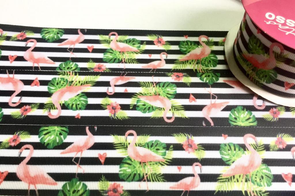 Fita de Gorgurão Progresso Flamingos 22 - 008