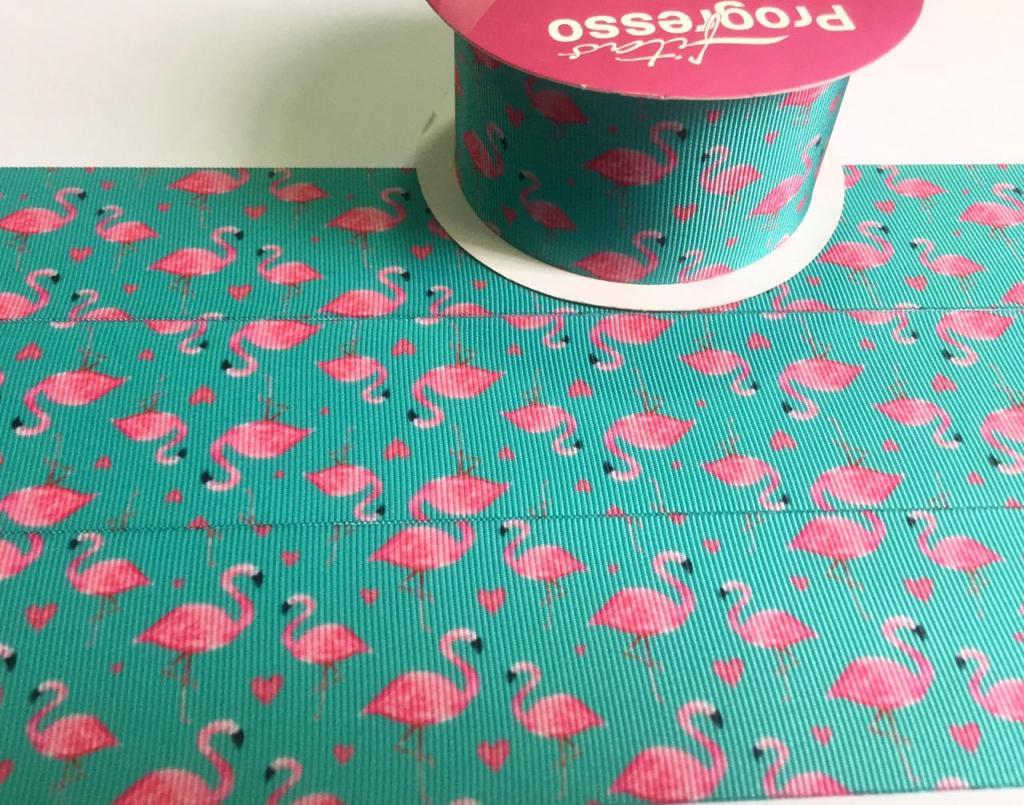 Fita de Gorgurão Progresso Flamingos 38 - 45 (10 metros)