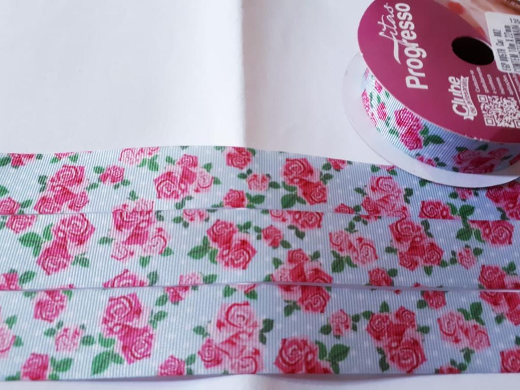 Fita de Gorgurão Progresso Floral 22 - 002
