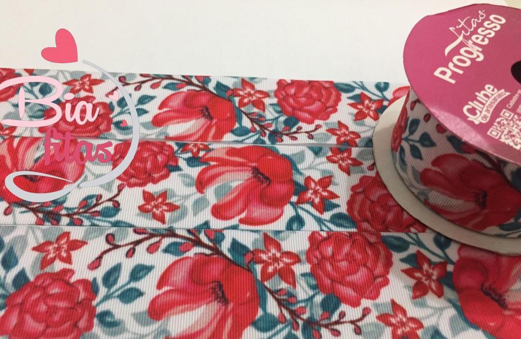 Fita de Gorgurão Progresso Floral 38 - 069