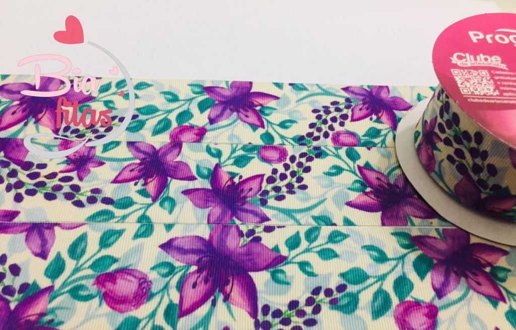 Fita de Gorgurão Progresso Floral 38 - 072