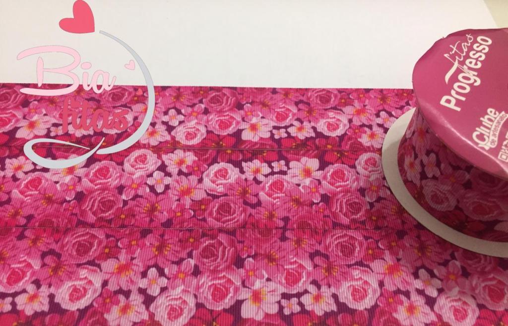 Fita de Gorgurão Progresso Floral 38 - 076