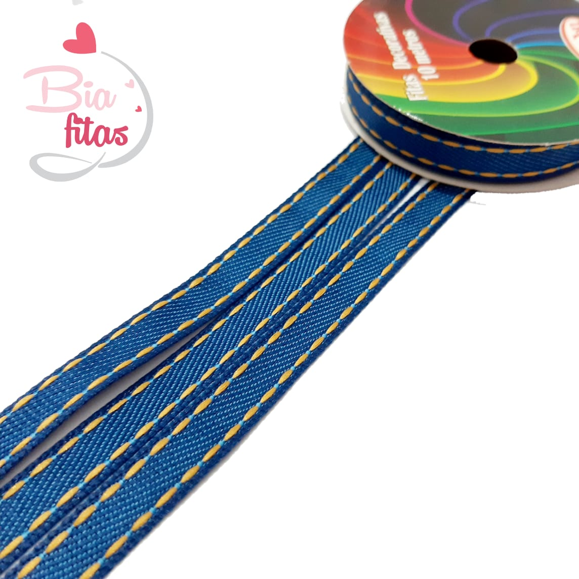Fita de Jeans Pesponto Sinimbú 10- 01 - 10 metros