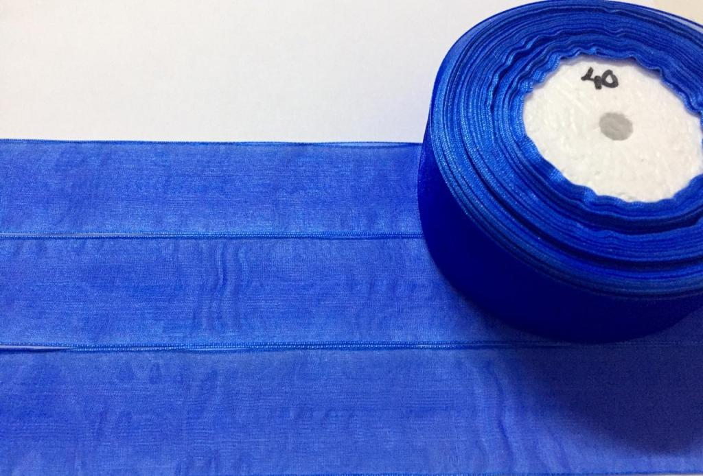 Fita de Organza Sanding Azul 40