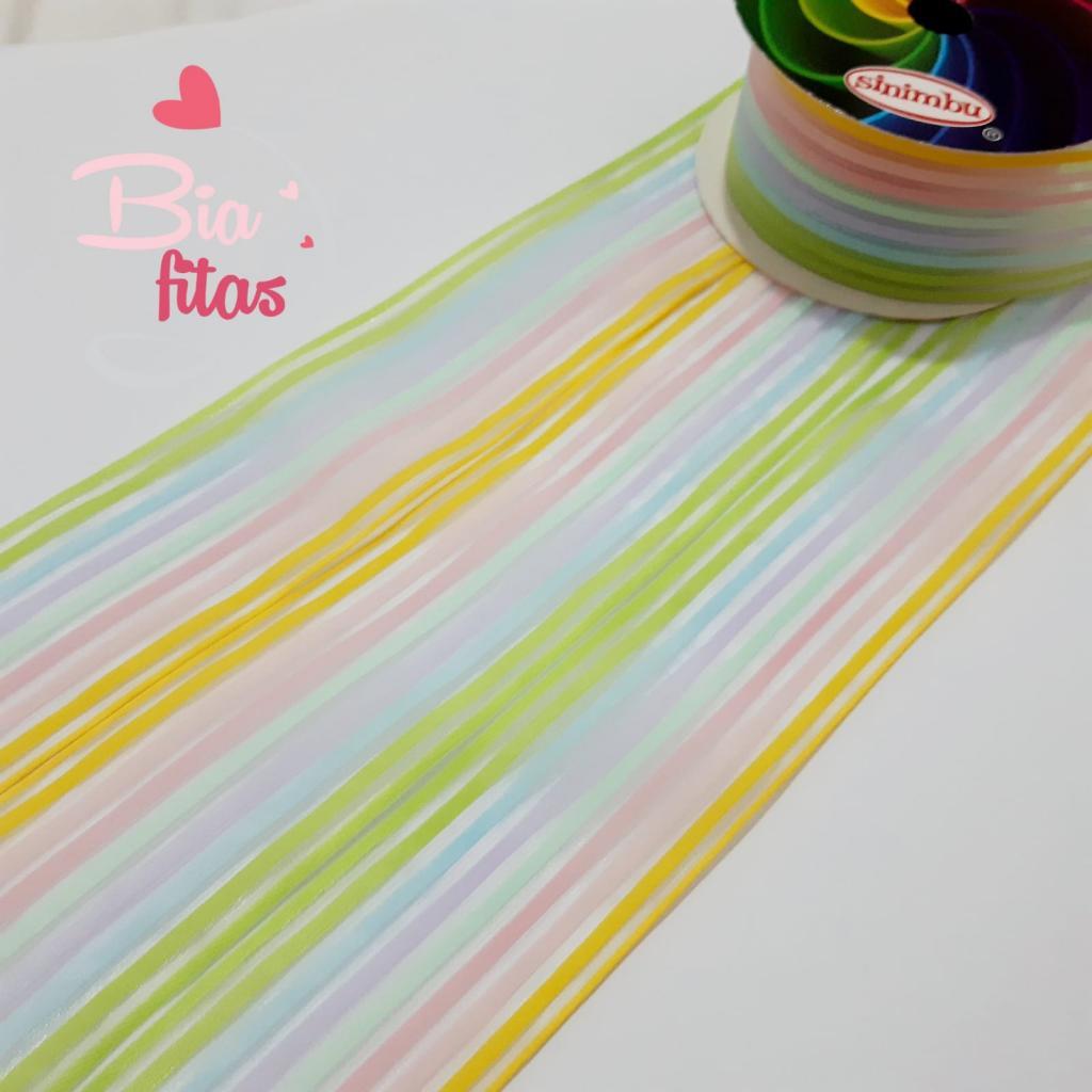 Fita de Organza Sinimbú Candy Colors 38 - 01 - 5 metros