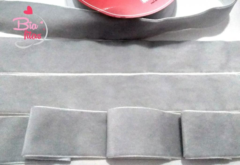 Fita de Veludo Aquarela Cinza Prata 112