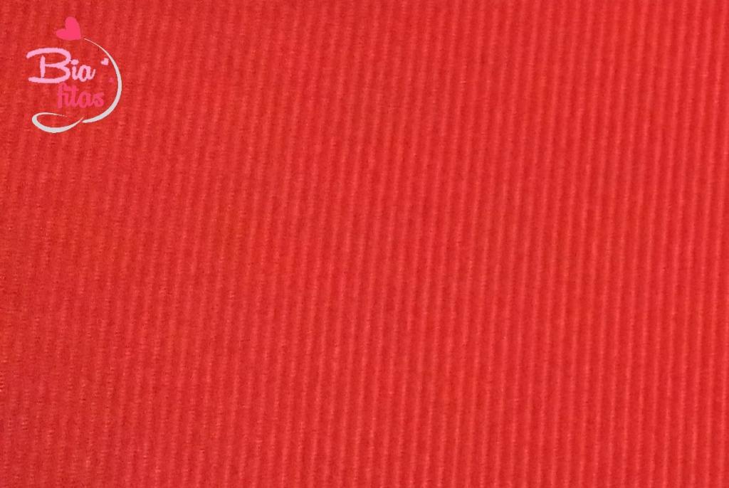 Fita Gorgurão Lisa Aquarela Vermelho 001
