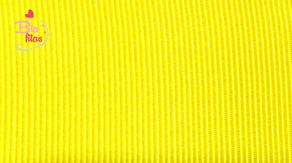 Fita Gorgurão Lisa Gitex Amarelo 109