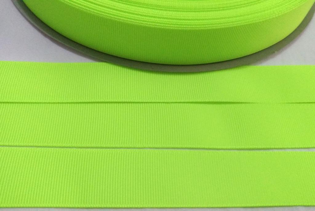 Fita Gorgurão Lisa Sanding Amarelo Fluorescente 98