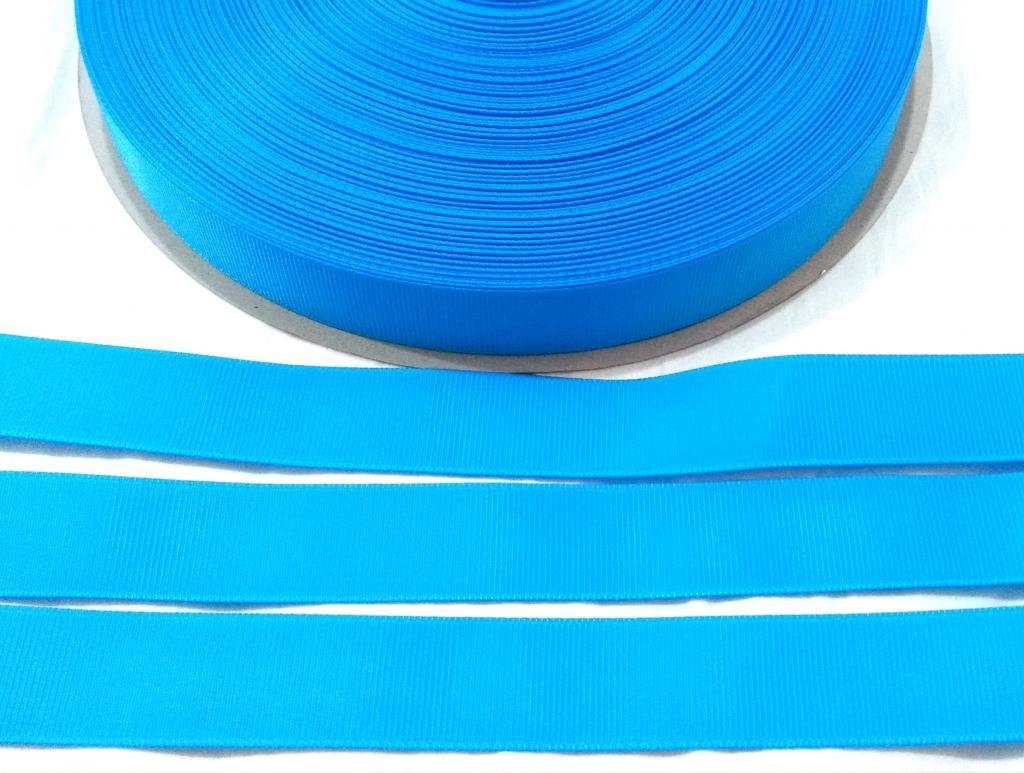 Fita Gorgurão Lisa Sanding Azul 58