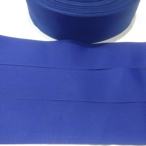 Fita Gorgurão Lisa Sanding Azul 60 - 22mm n05