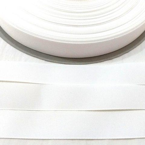 Fita Gorgurão Lisa Sanding Branco 05 - 10mm n02