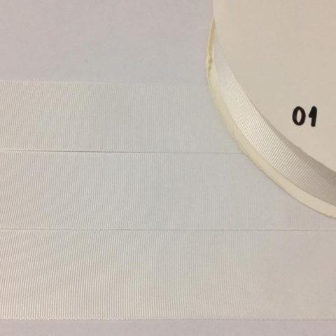 Fita Gorgurão Lisa Sanding Branco Off-White 01 - 22mm n05