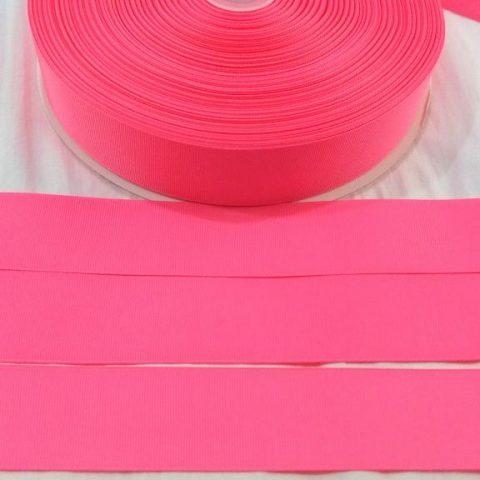 Fita Gorgurão Lisa Sanding Rosa Chiclete 23 - 10mm n02