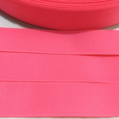 Fita Gorgurão Lisa Sanding Rosa Neon 249 - 38mm n09