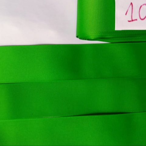 Fita Gorgurão Lisa Sanding Verde 108 - 10mm n02