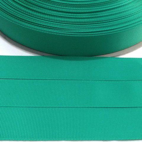 Fita Gorgurão Lisa Sanding Verde 299 - 52mm n12