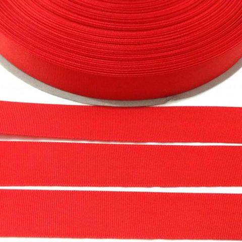 Fita Gorgurão Lisa Sanding Vermelho 165 - 22mm n05