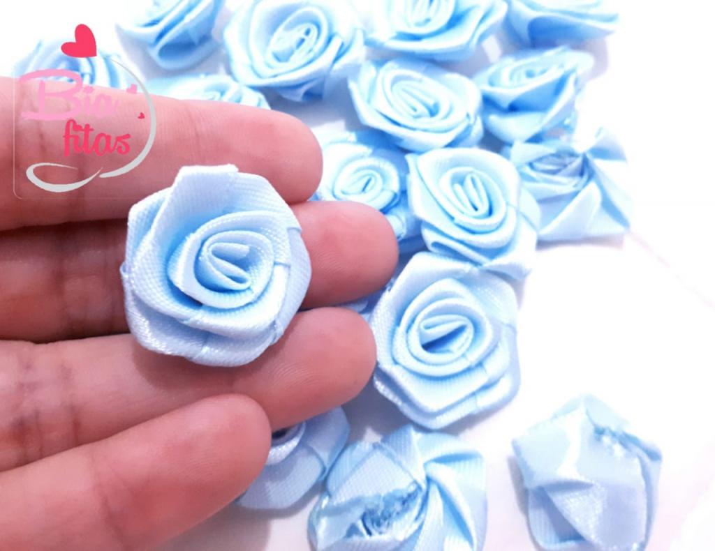 Flor Rococó Azul  12*