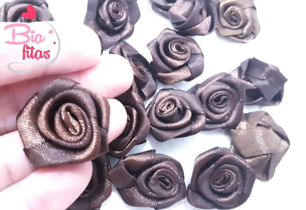 Flor Rococó Marrom 32*