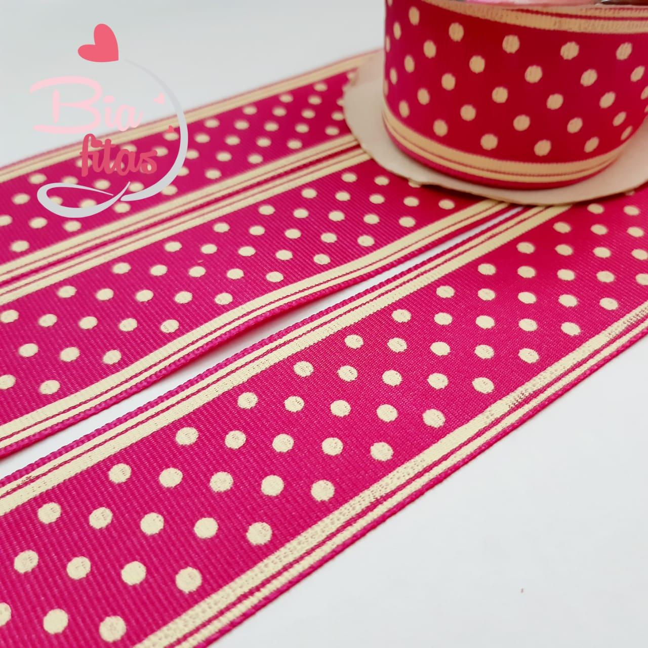 Gorgorão Sinimbú Poá Pink 38/06 - 5 metros